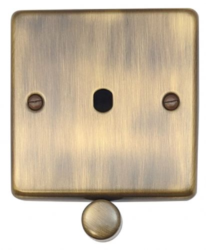 G&H CAB11-PK Standard Plate Antique Bronze 1 Gang Dimmer Plate Only inc Dimmer Knobs